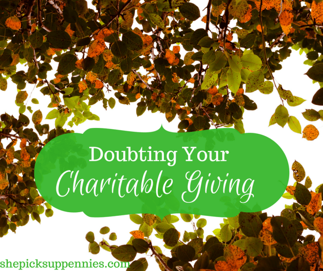 charitable giving enough doubts