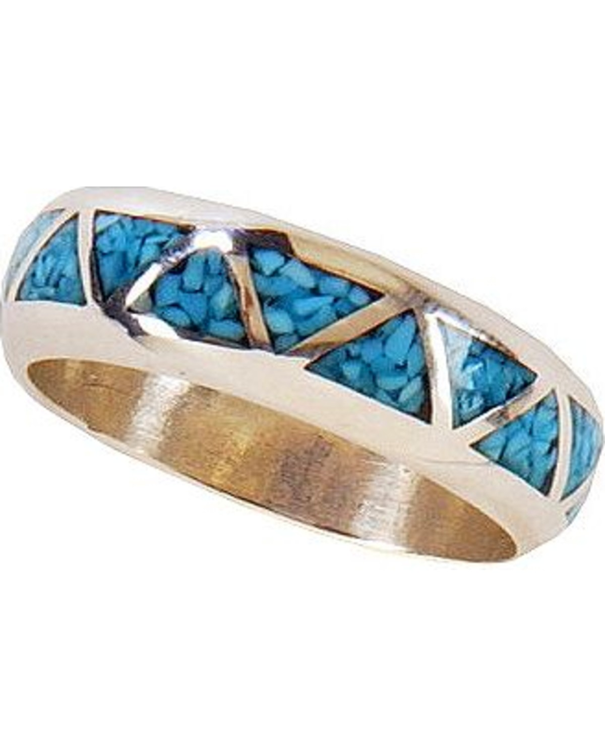 western wedding bands Silver Legends Turquoise Inlay Western Wedding Band Silver hi res