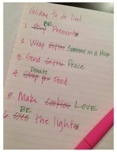 Christmas list photo
