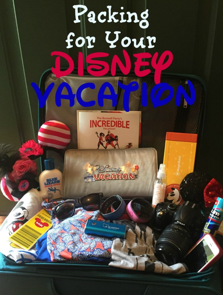 Packing Disney vacation