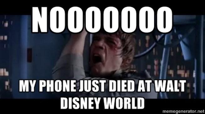 luke meme phone died at disney