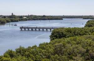 Fishing Pier on Riviera Bay at Weedon