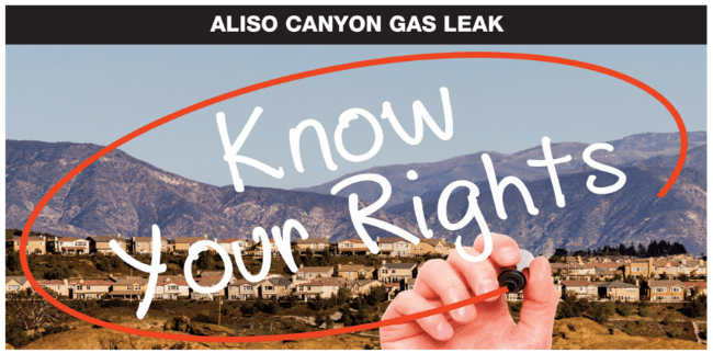 Know Your Rights: Legal Town Hall for Residents Affected by the Aliso Canyon Gas Leak