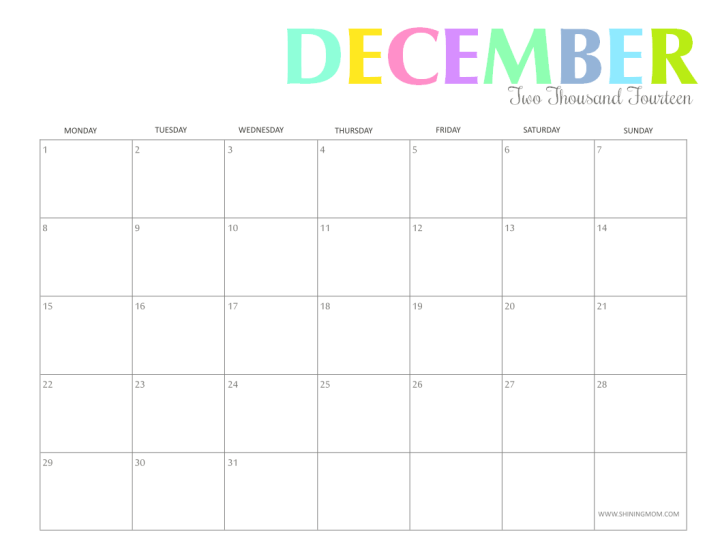 To Download And Use The 2014 Printable Calendars Just Right Click The ...