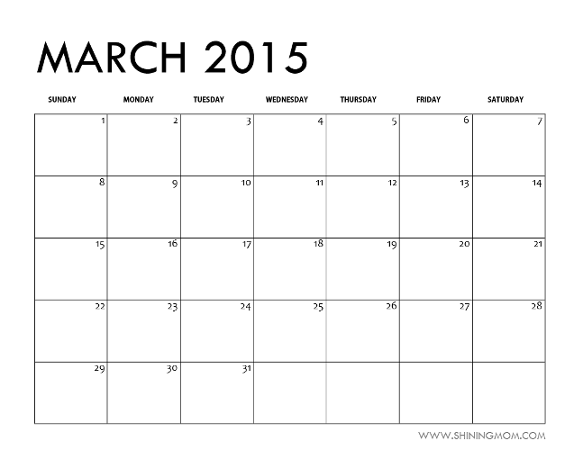 "Search Results for ""Blank 2015 March Calenday Page"" – Calendar ..."