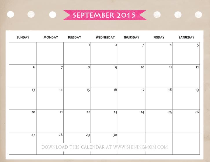 all lovely  10 free calendars for september 2015