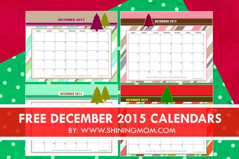 Christmas Calendar 2015 : December calendars christmas themed designs