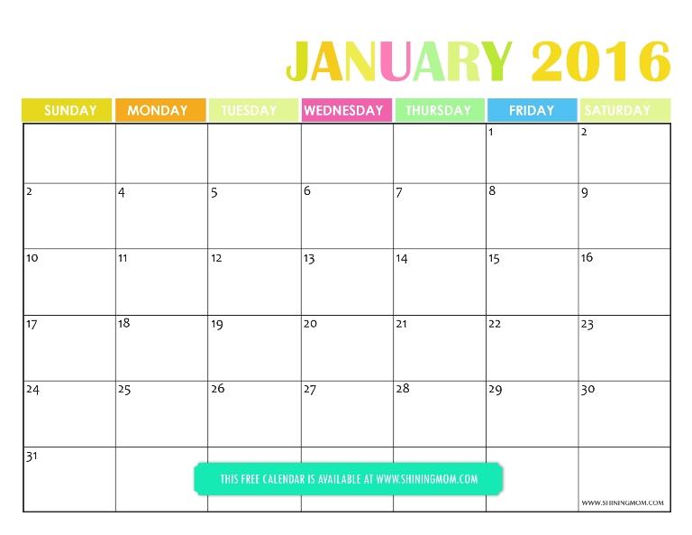 January Calendar Planner : All lovely free printable january calendars