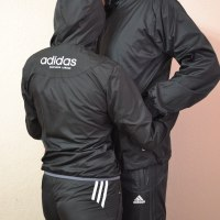 Cute Couple in Adidas Tracksuits