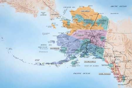 alaska and caa port of call destination maps