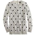 J.Crew Collection cashmere polka-dot sweater-DuskBlack