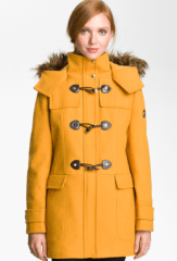 Purchase Calvin Klein Faux Fur Trim Duffle coat from Nordstrom.com