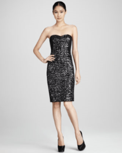 Buy Notte by Marchesa – Strapless Sequined Cocktail Dress
