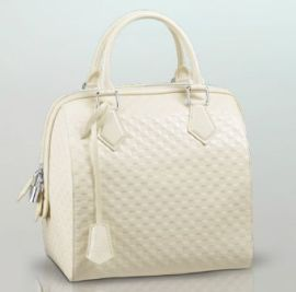 Louis Vuitton Spring Summer 2013 Speedy Cube MM in Cream
