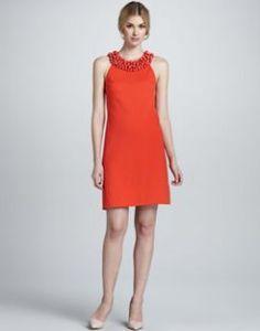 Buy Diane von Furstenberg CeeCee Enamel Beading Dress from Neiman Marcus