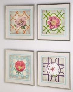 "Buy Florence de Dampierre ""Trellis Geometry Flowers"" Prints from Neiman Marcus"