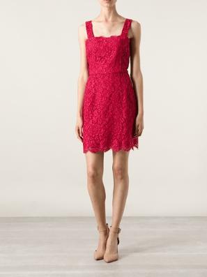 Dolce & Gabbana Pink Silk Embroidered Dress