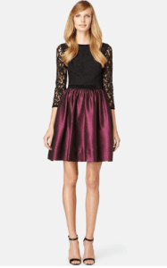 ERIN erin fetherston Dolly Lace Metallic Pique Fit & Flare Dress