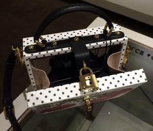 Dolce & Gabbana Polka Dot Floral Textured Leather Shoulder Bag