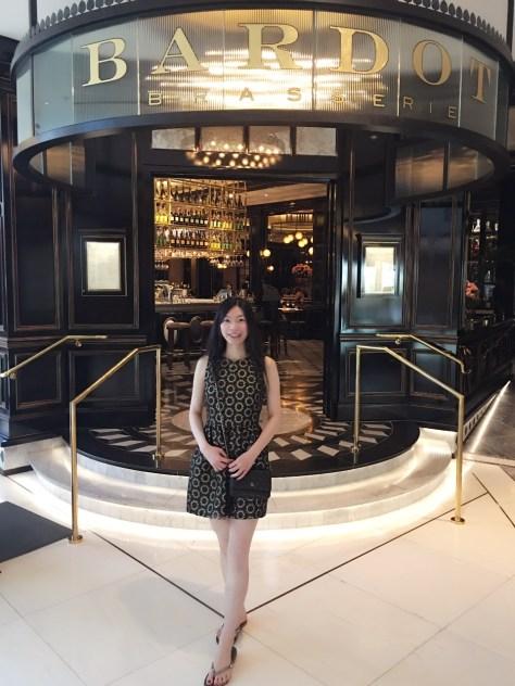In Front of Bardot Brasserie Restaurant