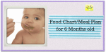6 Months baby meal plan/food chart
