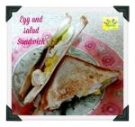 Egg and salad Sandwich