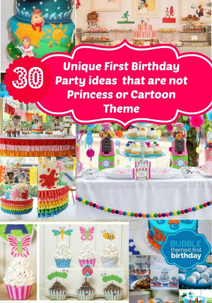Cartoon girl birthday party