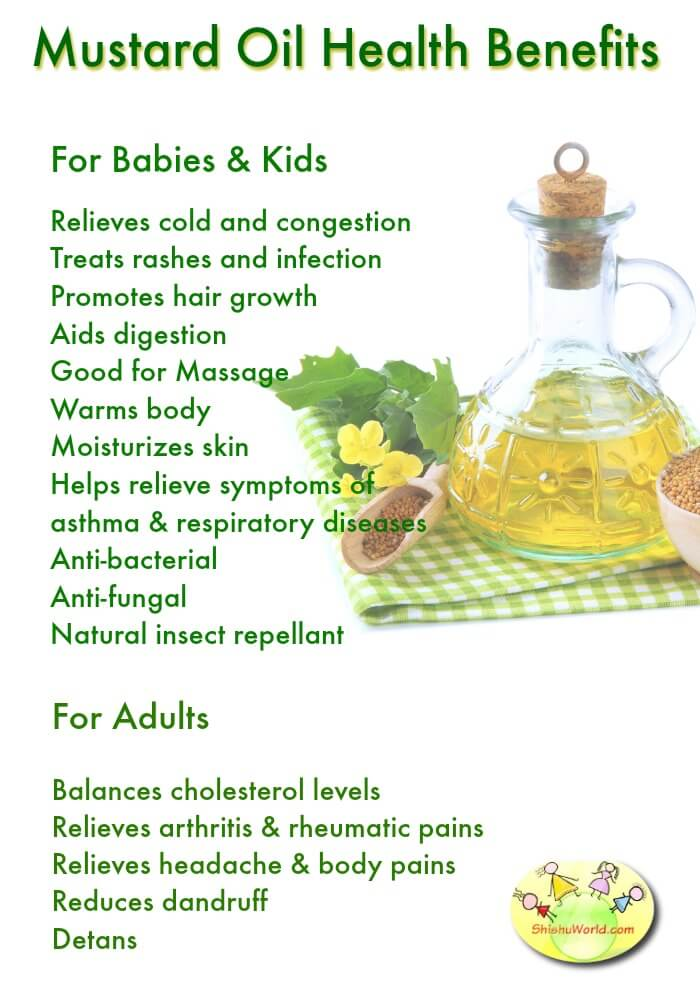 Mustard oil benefits for babies, kids & Adults