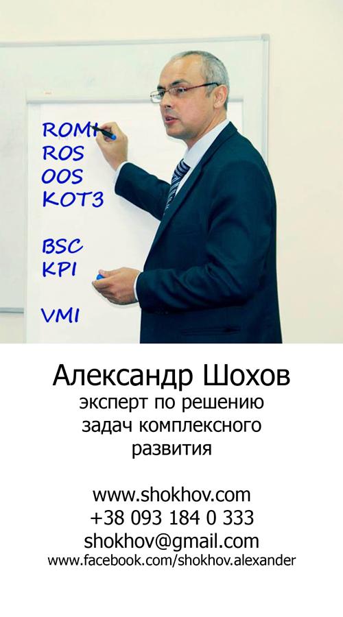 Александр Шохов визитка