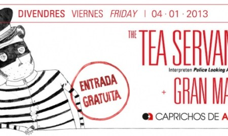 Cartel del concierto de Tea Servants en La 2 de Apolo