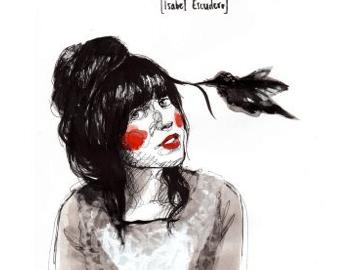 Una de las obras de Paula Bonet, en la que puede apreciarse su inconfundible estilo // PAULA BONET