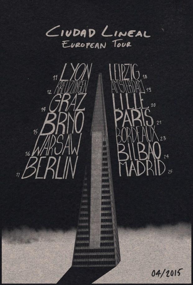 Fechas de la gira europea de Ciudad Lineal