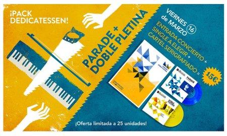 Cartel especialmente diseñado para el concierto de Parade y Doble Pletina