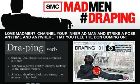 Imagen promocional del fenómeno draping, promovido por AMC