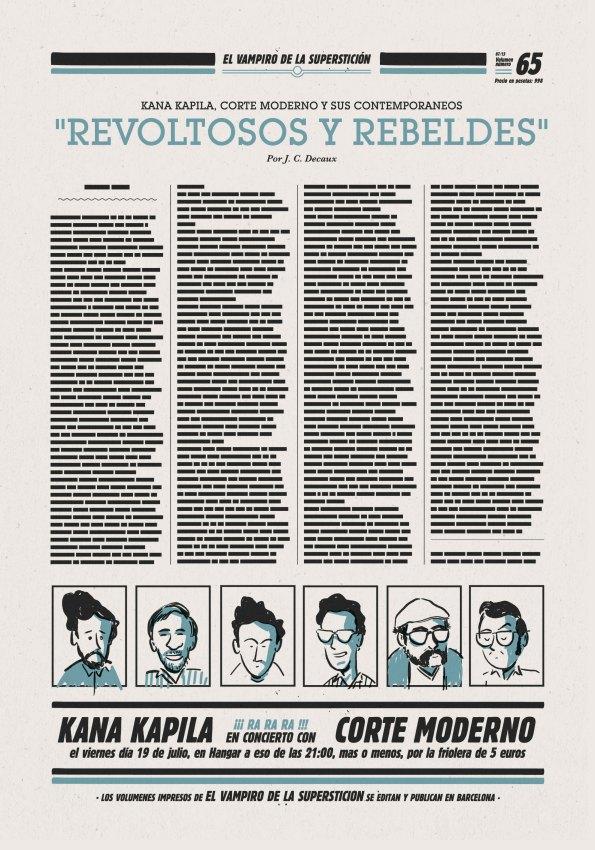 Cartel del concierto, de Luís Paadín