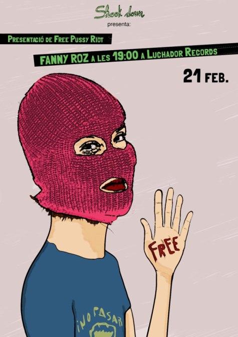 Poster promocional del acústico de Fanny Roz