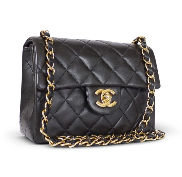 chanel tas-lambskin-gold-mini classic
