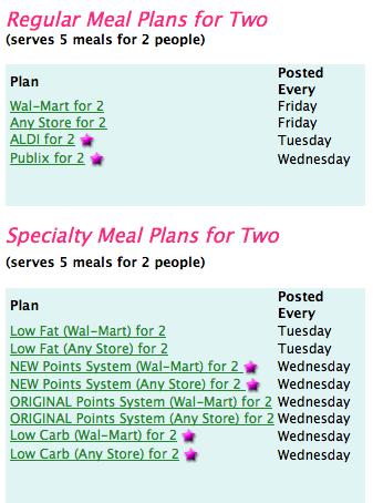 E-Mealz Meal Plans