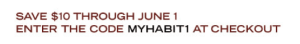 MyHabit.com coupon