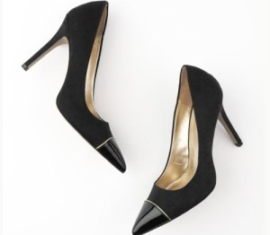 loft penelope cap toe black pump