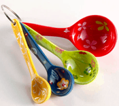 Floral Measuring Spoons - Stocking Stuffers for Women - FantabulouslyFrugal.com 2012 Holiday Gift Guide - #giftguide #stockingstuffers