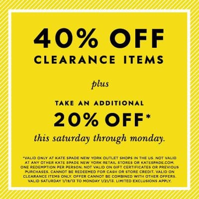 Kate Spade New York Outlet coupon