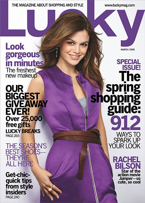 Lucky Magazine cover featuring Rachel Bilson