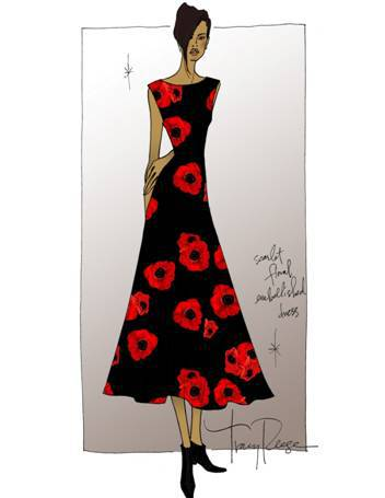 Tracy Reese Fashion Week Sketch