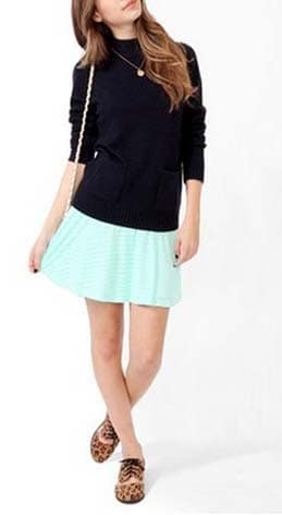 Jacquard Skater Skirt from Forever 21