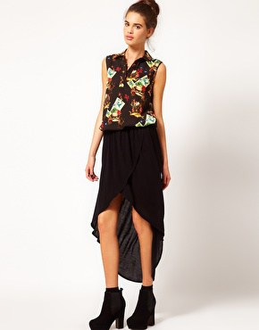 River Island Wrap Maxi Skirt ASOS