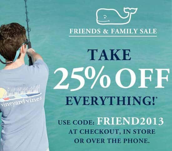 Vineyard Vines Friends and Family Sale