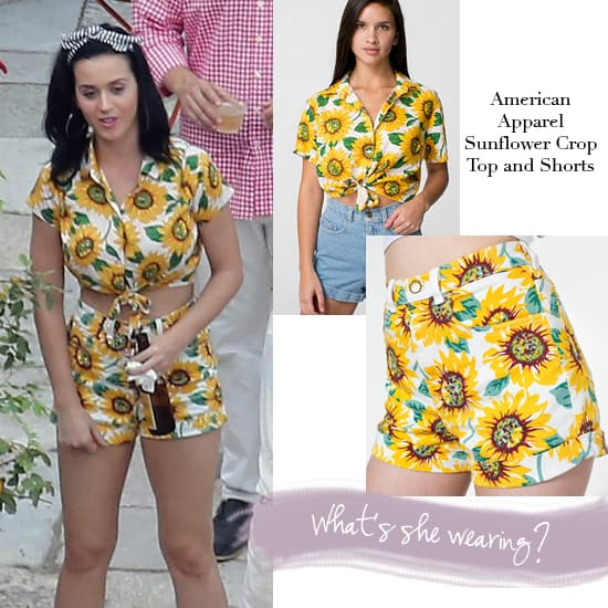 Katy Perry Wears a Sunflower Outfit from American Apparel