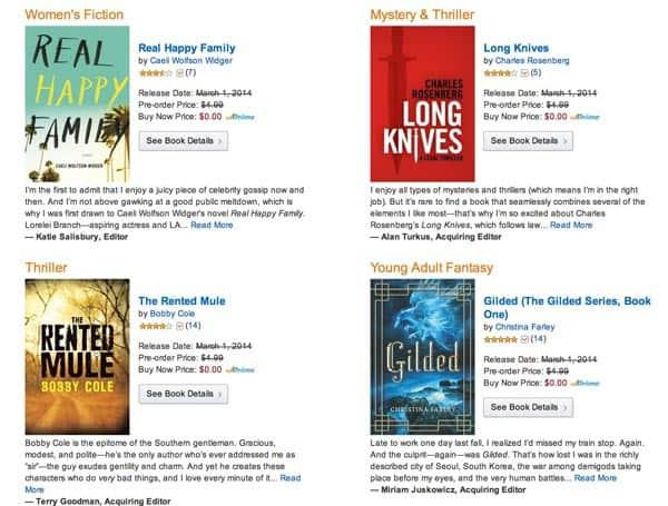Free Kindle Pre-Release Books