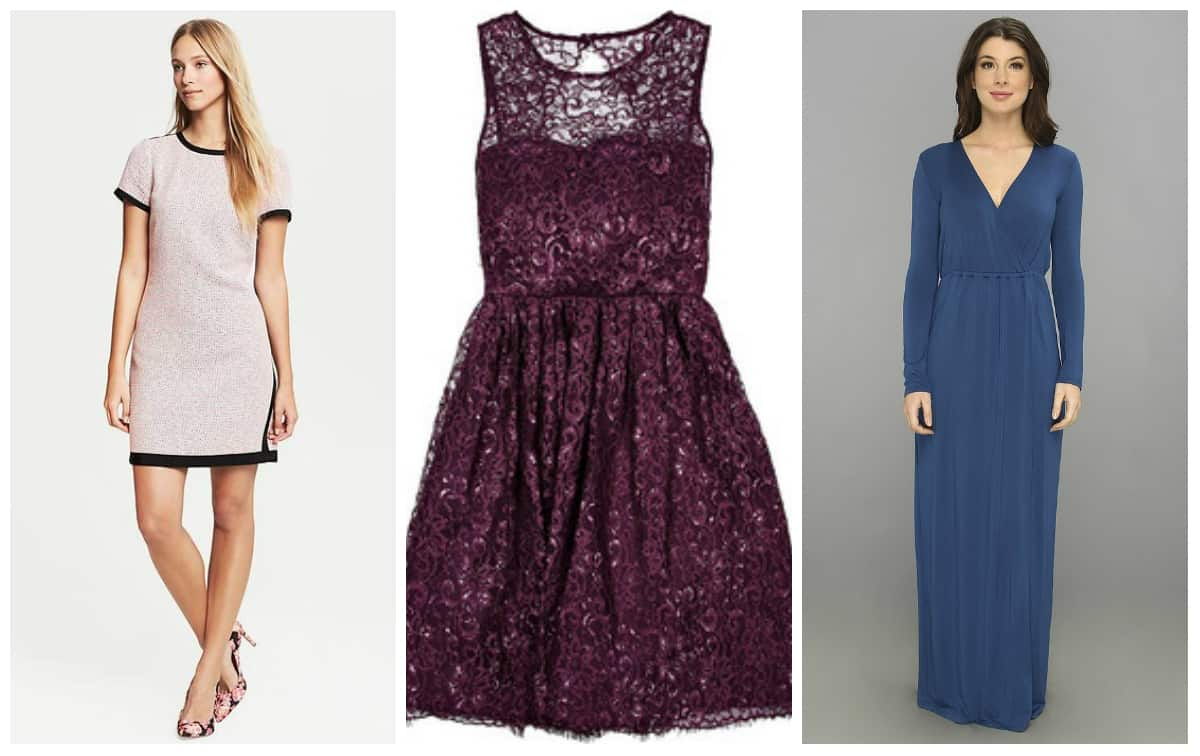 Wedding wednesday winter wedding guest dresses for less for Dresses for a fall wedding